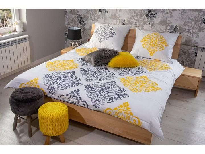 Zestaw: Ballega łóżko bukowe lewitujące 160x200 cm w kolorze jasny orzech plus dwie szafki Kolor Żółty Pomieszczenie Sypialnia