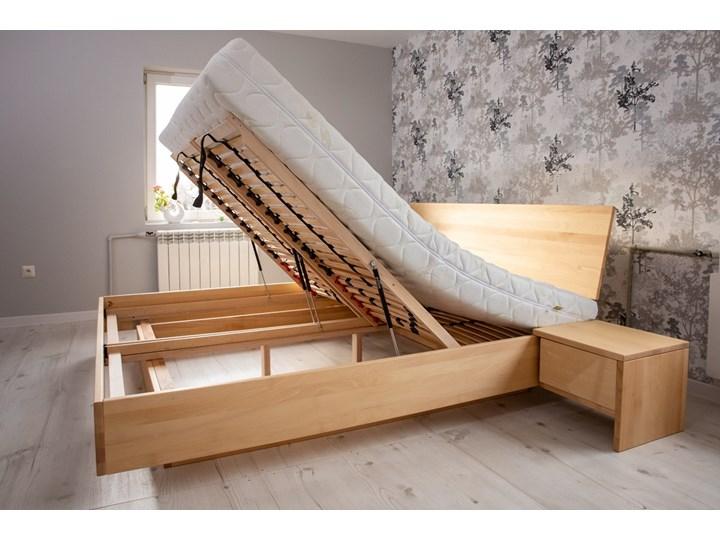 Ballega łóżko bukowe lewitujące 160x200 cm Pojemnik na pościel Z pojemnikiem Łóżko drewniane Kategoria Łóżka do sypialni