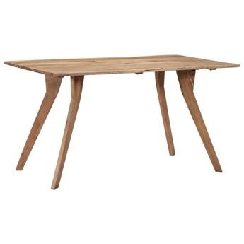 Stół drewniany Notimo 2X – brązowy