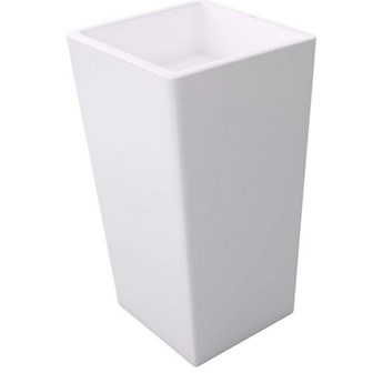 Umywalka wolnostojąca biała Kubik 38x38x83