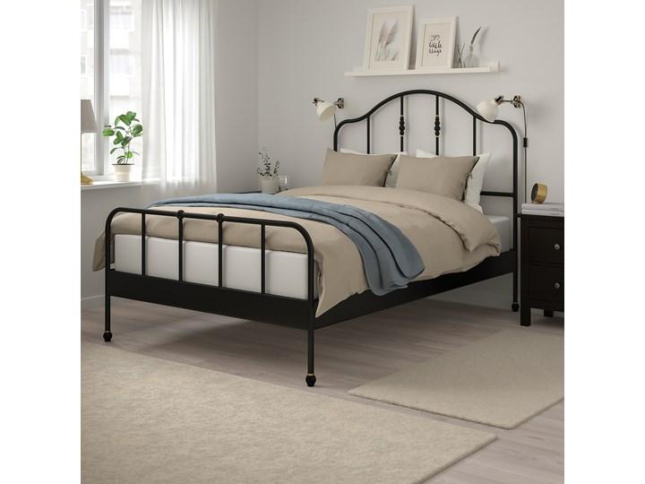 SAGSTUA Rama łóżka Kolor Czarny Łóżko metalowe Kategoria Łóżka do sypialni