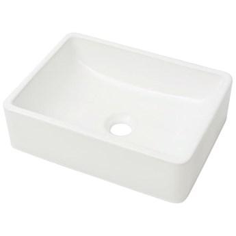 vidaXL Umywalka ceramiczna 41 x 30 x 12 cm, biała