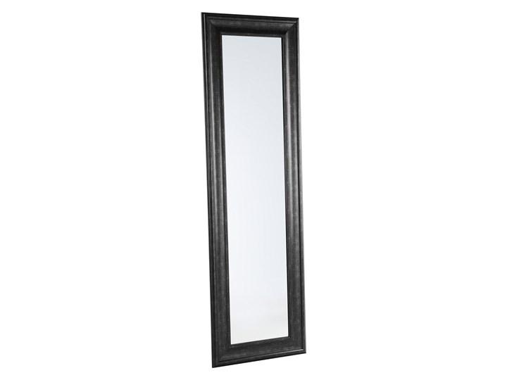 Lustro ścienne wiszące czarne 51 x 141 cm syntetyczna rama styl skandynawski minimalistyczny Prostokątne Styl Vintage Kolor Czarny