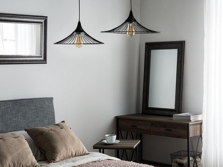Lampa sufitowa wisząca czarna metalowa okrągły klosz industrialna kuchnia sypialnia Lampa inspirowana Lampa druciana Kategoria Lampy wiszące Styl Nowoczesny