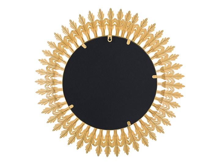Lustro ścienne wiszące złote 60 cm salon sypialnia Okrągłe Lustro z ramą Styl Glamour