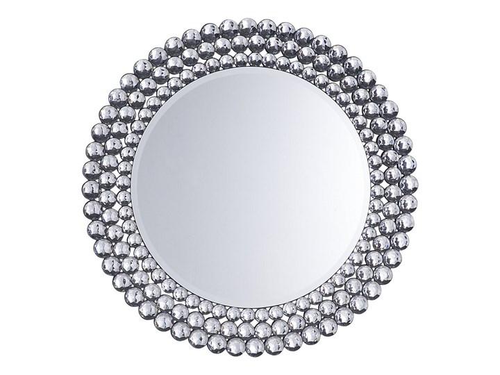 Lustro wiszące ścienne srebrne okrągłe 70 cm dekoracyjne Lustro bez ramy Kolor Srebrny Kategoria Lustra