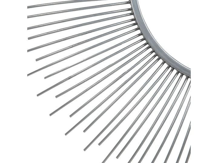 Lustro wiszące ścienne srebrne 80 cm okrągłe metalowe promienie słońca Styl Nowoczesny Lustro z ramą Kolor Srebrny