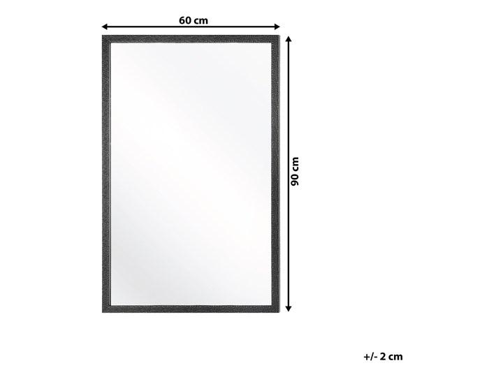 Lustro ścienne wiszące czarne 60 x 90 cm dekoracyjne Prostokątne Lustro z ramą Styl Klasyczny