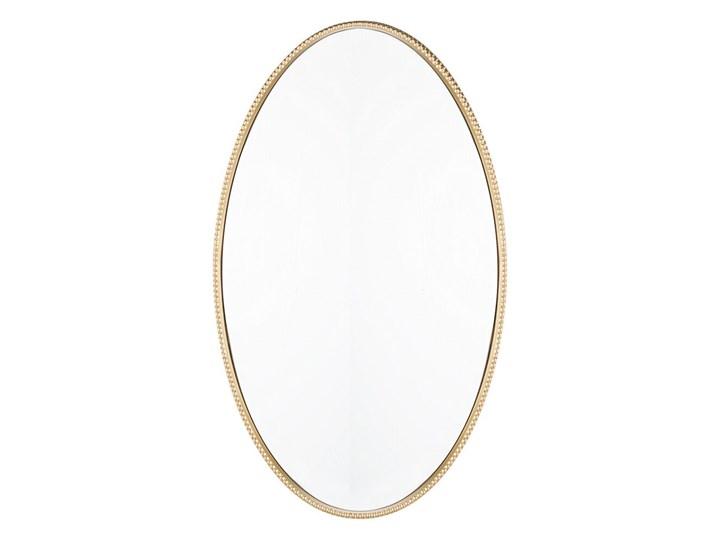 Lustro ścienne wiszące złote 83 x 57 cm owalne dekoracyjne do salonu sypialni łazienki minimalistyczne Styl Nowoczesny