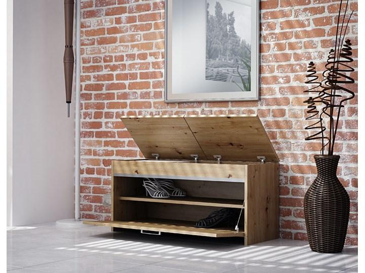 Szafka na buty do przedpokoju ze schowkiem Leni 3X - dąb artisan Drewno Styl Minimalistyczny Typ Z siedziskiem