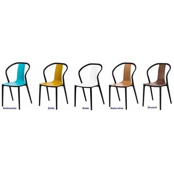 Designerskie krzesło tulipan Emeli - orzech