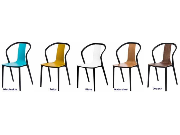 Designerskie krzesło tulipan Emeli - orzech Kolor Brązowy Głębokość 56 cm Drewno Krzesło inspirowane Styl Nowoczesny