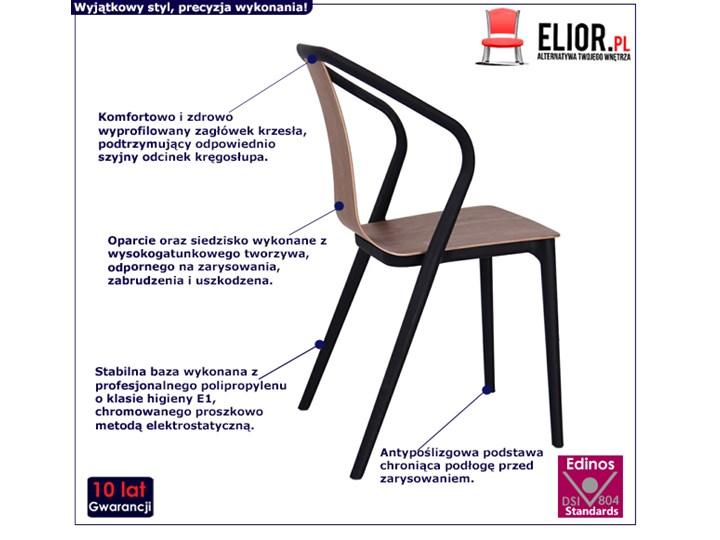 Designerskie krzesło tulipan Emeli - orzech Krzesło inspirowane Drewno Głębokość 56 cm Kolor Brązowy