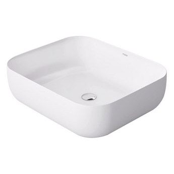 Umywalka nablatowa biała Adiuca 51x41x14