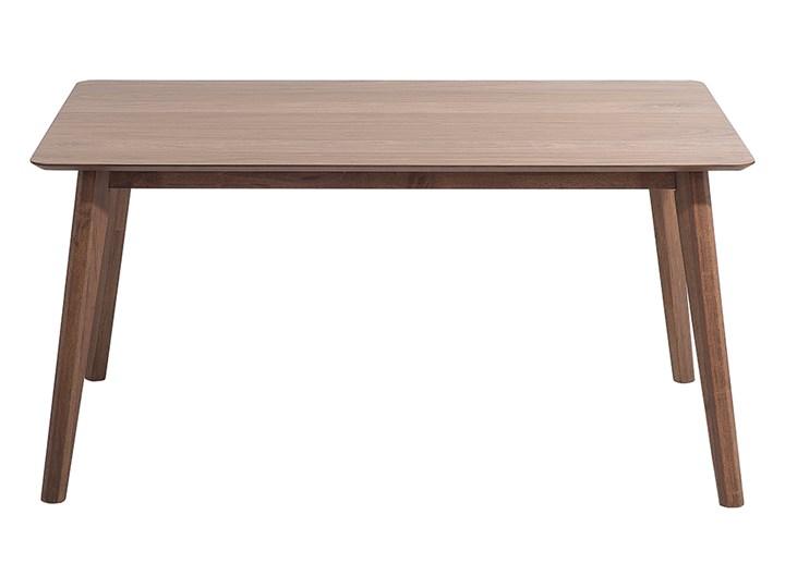 Stół do jadalni ciemne drewno 150 x 90 cm prostokątny styl retro Płyta MDF Rozkładanie Długość 150 cm  Styl Vintage