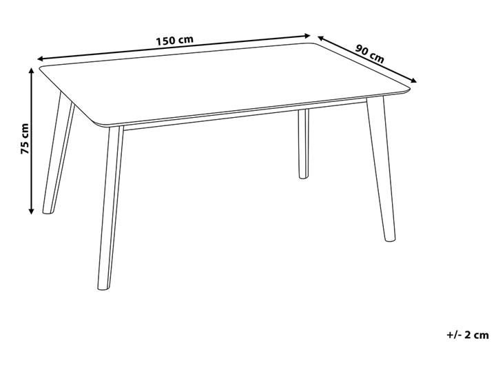 Stół do jadalni ciemne drewno 150 x 90 cm prostokątny styl retro Styl Vintage Długość 150 cm  Płyta MDF Kategoria Stoły kuchenne
