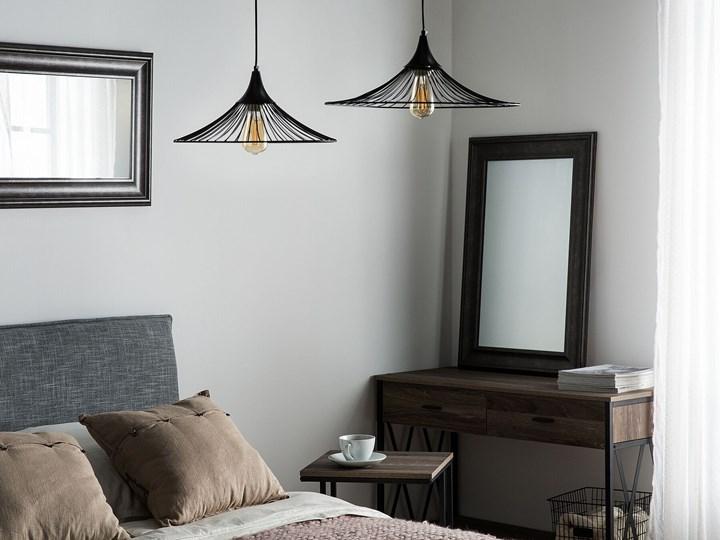 Lampa sufitowa wisząca czarna metalowy klosz industrialny design sypialnia kuchnia Lampa druciana Lampa z kloszem Kolor Czarny