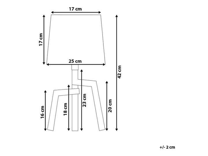 Lampa stołowa biała jasne drewno 42 cm trójnóg skandynawska Lampa nocna Kategoria Lampy stołowe Lampa z abażurem Kolor Biały