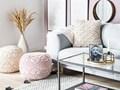 Poduszka dekoracyjna beżowa bawełniana makrama pleciona 40 x 45 cm z wypełnieniem ozdobny sznurek akcesoria boho retro salon sypialnia Poliester Bawełna Kwadratowe Poszewka dekoracyjna 40x45 cm Kolor Beżowy