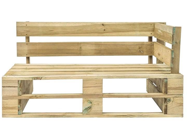 Ławka ogrodowa z palet Canther 2X - zielona Drewno Długość 110 cm Z oparciem Kategoria Ławki ogrodowe