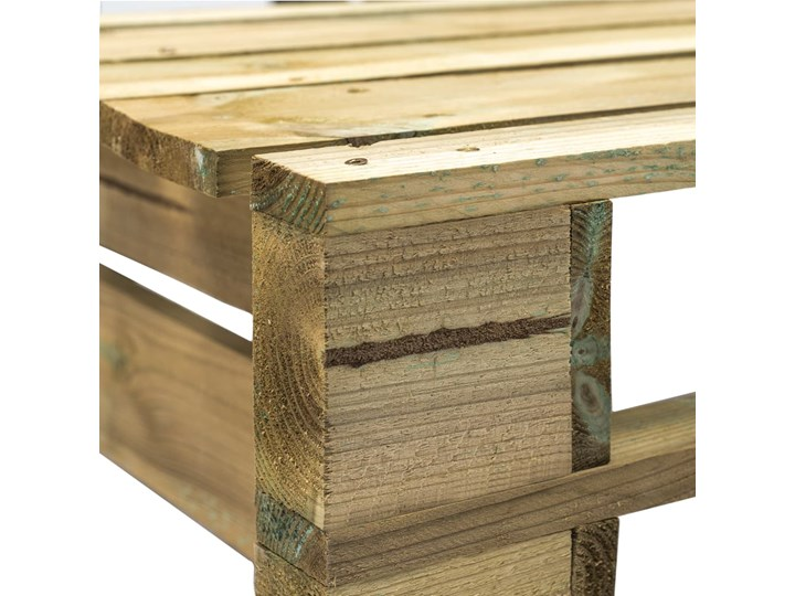 Ławka ogrodowa z palet Canther 2X - zielona Z oparciem Drewno Długość 110 cm Styl Industrialny