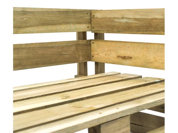Ławka ogrodowa z palet Canther 2X - zielona Długość 110 cm Z oparciem Drewno Styl Industrialny