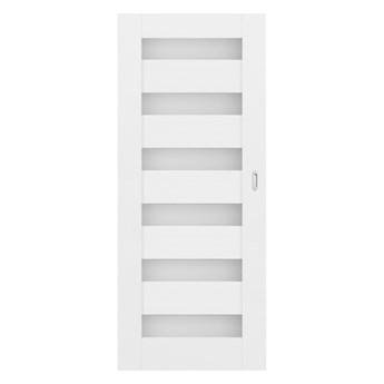 Drzwi pokojowe przesuwne Trame 80 bezfelcowe białe