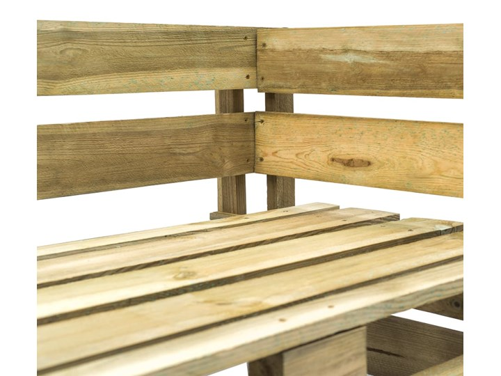 vidaXL Ogrodowa ławka narożna z palet, drewno Kategoria Ławki ogrodowe Z oparciem Styl Rustykalny