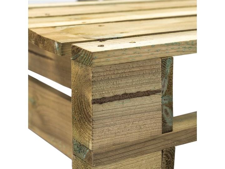 vidaXL Ogrodowa ławka narożna z palet, drewno Z oparciem Styl Rustykalny