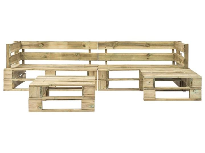 vidaXL 4-cz. zestaw wypoczynkowy do ogrodu, palety, drewno Zestawy kawowe Zestawy wypoczynkowe Kategoria Zestawy mebli ogrodowych