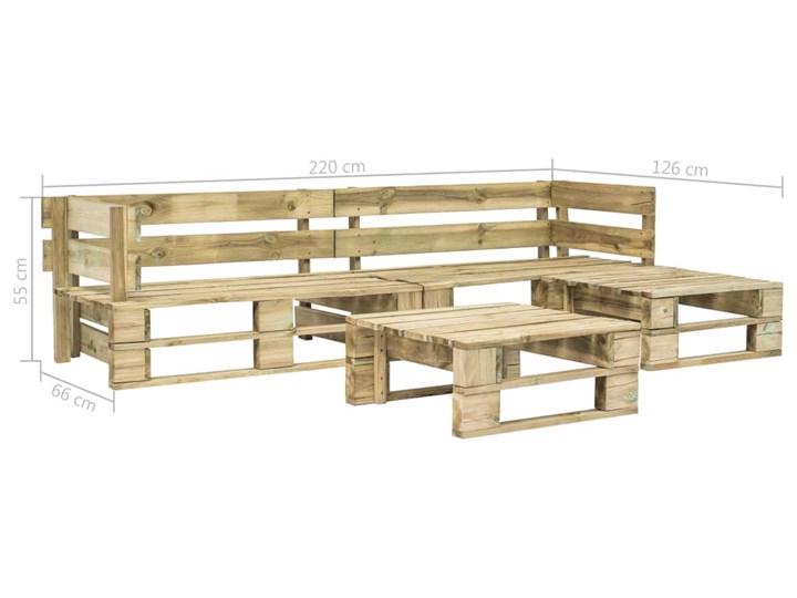 vidaXL 4-cz. zestaw wypoczynkowy do ogrodu, palety, drewno Zestawy wypoczynkowe Zestawy kawowe Zawartość zestawu Stolik