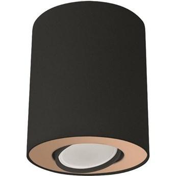 Spot sufitowy tuba SET czarny/złoty śr. 10cm