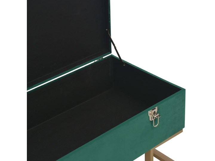 vidaXL Ławka ze schowkiem, 105 cm, zielona, aksamitna Kolor Zielony Skrzynia Pikowana Kategoria Ławki do salonu