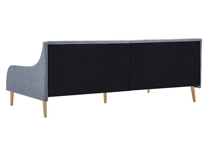Efektowne tapicerowane łóżko Welles – jasnoszare Drewno Tworzywo sztuczne Kategoria Łóżka dla dzieci