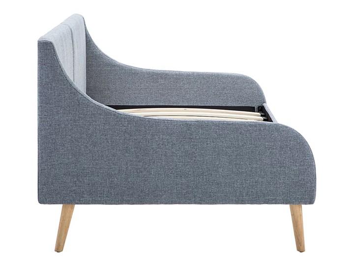 Efektowne tapicerowane łóżko Welles – jasnoszare Kategoria Łóżka dla dzieci Drewno Tworzywo sztuczne Kolor Szary