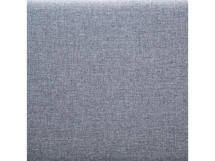 Efektowne tapicerowane łóżko Welles – jasnoszare Tworzywo sztuczne Kategoria Łóżka dla dzieci Drewno Kolor Szary