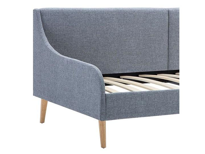 Efektowne tapicerowane łóżko Welles – jasnoszare Tworzywo sztuczne Drewno Kategoria Łóżka dla dzieci