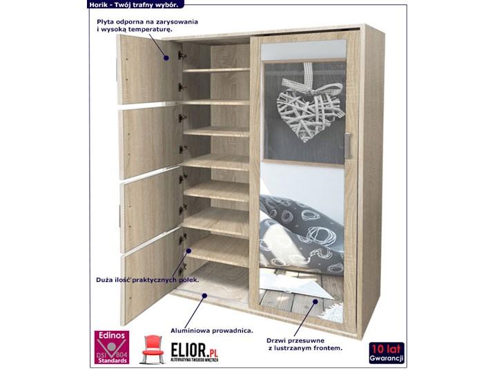 Garderoba z lustrem i szafką na buty Horik - dąb sonoma Drewno Lustro