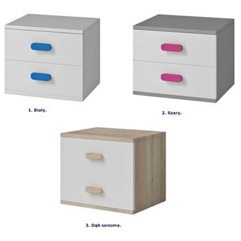 Dziecięca szafka nocna z kolorowymi uchwytami Piccolo 13X - biała