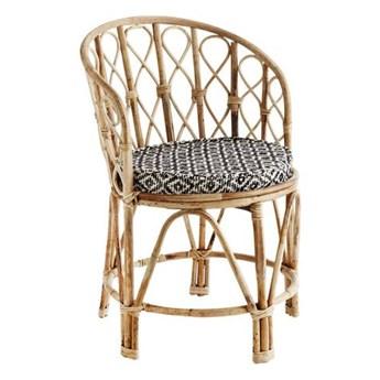 Madam Stoltz - Krzesło bambusowe z pokryciem