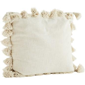Madam Stoltz - Poszewka na poduszkę z pomponami