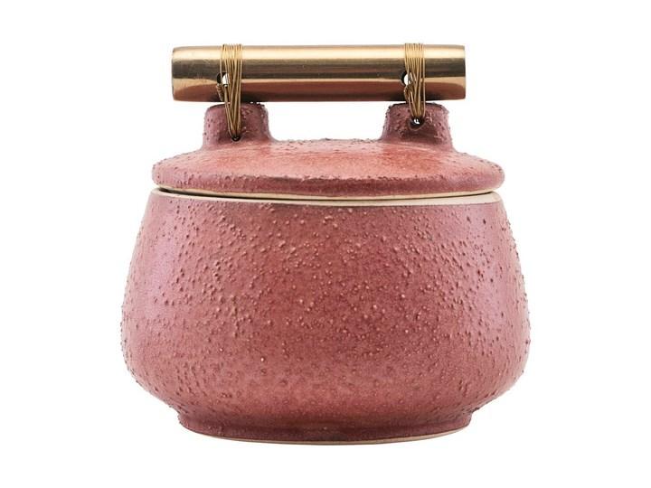 House Doctor - Pojemnik Diva M Kategoria Pojemniki do łazienki Ceramiczne Pojemnik na akcesoria kosmetyczne Kolor Czerwony
