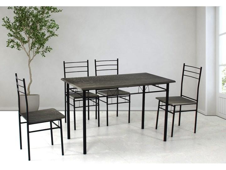 HOME DECOR ZESTAW KUCHENNY CZARNY JULIA2 STÓŁ PROSTOKĄTNY 110x60 4 KRZESŁA Kategoria Stoły z krzesłami