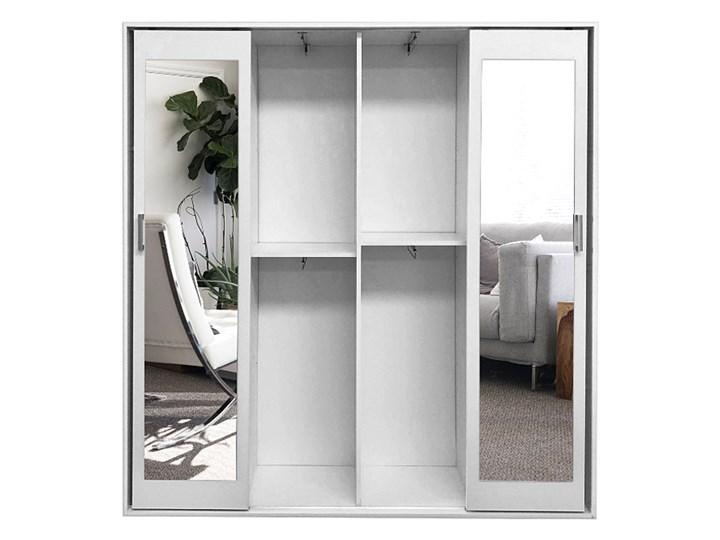 Garderoba dwudrzwiowa z lustrem i szafką na buty Ragnar - biała Kategoria Szafy do garderoby Lustro