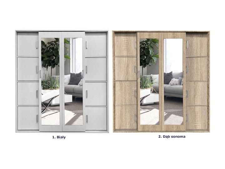 Garderoba dwudrzwiowa z lustrem Ragnar - dąb sonoma Drewno Ilość drzwi Dwudrzwiowe
