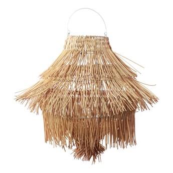 Duży naturalny rattanowy abażur Urchin do lampy sufitowej BAZAR BIZAR
