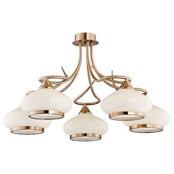 Lampa sufitowa żyrandol klasyczny IDALIA patyna/ecru śr. 62cm