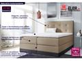 łóżko kontynentalne kongel 5x 200x200 Łóżko tapicerowane Tkanina