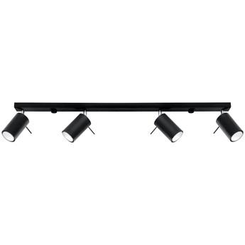 SOLLUX Lampa Sufitowa Listwa Spot Plafon RING 4L Czarny LED