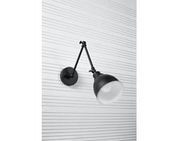 SOLLUX Nowoczesna Oprawa Ścienna Kinkiet STARK KLOSZ Czarny Lampa Stalowa  do Salonu Sypialni Oświetlenie E27 LED